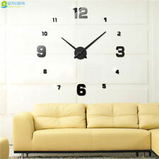 Wall Clock Acrylic Stickers Watch Decor Living Room Quartz Needle Modern Design