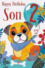 Age 2 Son 2nd Birthday Card