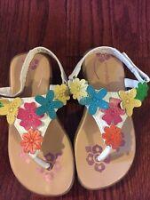 Wonder Kids Flower Sandals Toddler Size 9