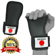Peso palestra sollevamento Cinghie Palm Support Training Glove PADS avvolge mano deadlift
