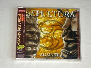SEPULTURA  AGAINST ( CD ) SEALED JAPAN WITH 2 BONUS TRACKS