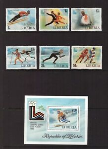 Liberia 1980 Winter Olympic Games set sheet MNH mint stamps