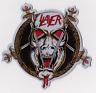 Slayer White Demon Pentagram Laser Cut Woven Lim.Ed  Aufnaher XXL
