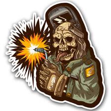 Zombie Welder Welding Helmet Sticker Decal Toolbox car window truck lunchbox
