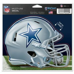"Dallas Cowboys Wincraft NFL Helmet 4.5"" x 5.75"" Multi Use Decal FREE SHIP!"