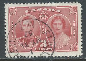 Canada #O-76(1) 1937 3 cent carmine GEORGE VI ELIZABETH FT.WM & WPG R.P.O. NO.7