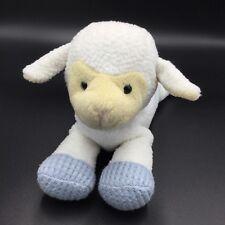 Anna Club White Blue Lamb Sheep Plush Soft Toy Rattle Thermal Stuffed Bow Stripe