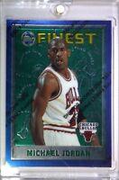 1996 96-97 Topps Finest Michael Jordan #229, w/ Peel Coating, Rare Sharp MJ!