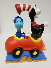 Dr Seuss Bank The Cat In The Hat & Whozit Car Plastic Bank Toy Henson '97 w Stop
