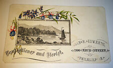 Rare Antique American Advertising Confectioner & Florist Philadelphia Trade Card