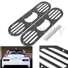 2pcs Universal Car Race Aluminum Rear Bumper Air Diversion Diffuser Panel Black