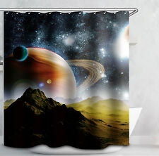 Planet Shower Curtain Outer Space Galaxy Celestial Sky Solar System Science