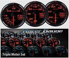 DEFI Racer Gauge Triple Gauge Set 52mm Red (Boost/Temp/Press)
