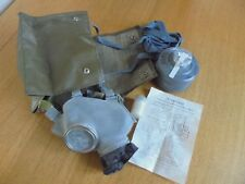 POLISH GAS MASK & RUBBER BAG. MC-1. WITH FILTER, CLOTH & INSTRUCTIONS...
