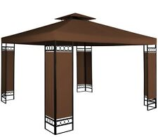 3x3M Pavilion Outdoor Marquee Gazebo Canopy Party Sun Shade Brown Roof Party