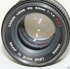 Canon Fd f/1.4 50mm S.S.C. Prime Lens A1 F1 AE1 AE1 Program T70 T50 Tested