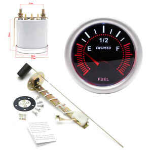 "Car 2"" 52mm Fuel Level Gauge Meter With Fuel Sensor E-1/2-F Pointer (US Stock)"