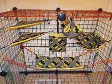 BATMAN GRAY  Sugar Glider 6 pc cage set