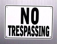 """NO TRESPASSING"" 10"" x 7"" WARNING SIGN, METAL, HEAVY DUTY"