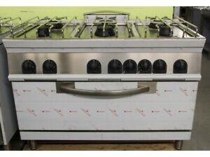 Gasherd, 6 Flammen mit XXL-Elektro-Backofen -Auslaufmodell-
