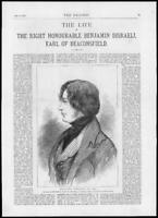 1878 - Antique Print BUCKINGHAMSHIRE Earl Beaconsfield Benjamin Disraeli  (071)