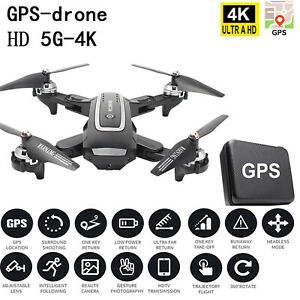 GPS Positioning WIFI FPV 2.4G-1080P/5G-4K HD RC Foldable Quadcopter Camera Drone