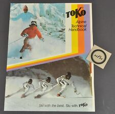Vintage 1984 Toko Alpine Ski Wax Chart Instruction Service Technical Manual Book