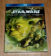 Star Wars I-Ii-Iii New Sealed 3 Blu-Ray Science Fiction (Sleeveless Open) A-B-C