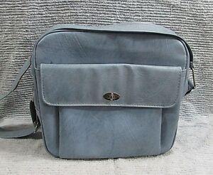 Powder Blue Samsonite Profile Silhouette Luggage Vinyl Tote Shoulder Bag FREE SH