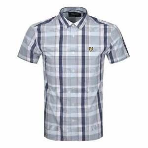 Lyle & Scott Deck Blue Check Shirt Short Sleeve SW1402V