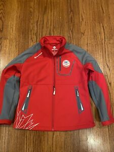 2010 VANCOUVER WINTER OLYMPIC SUNICE JACKET CTV Canada RED Jacket Xl