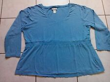Damen Langarm Stretch Sweat von Mia Linea, Gr. 52/54, hellblau