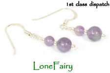 Drop/Dangle Amethyst Sterling Silver Fine Earrings