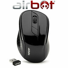 Airbot Wireless Cordless Ottico Scorrere Mouse DPI Mouse PC Computer Laptop-Nero