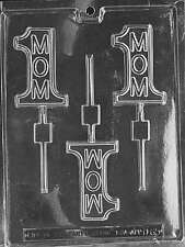 #1 MOM LOLLY Sucker Chocolate Candy Mold LOP-D065