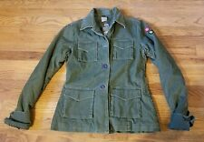 NEW 55DSL Womens Med Military Coat Jacket Green Corduroy M Ladies NWT Cute Warm