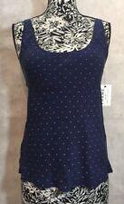 Frame Women Shirt Size S NWT 100% Silk Sleeveless Navy Blue