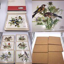 Vintage Pimpernel Song Birds Cork Backed Placemats Boxed Rectangular
