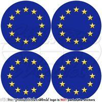 "EUROPE European Union Flag Roundels EU 50mm(2"") Bumper-Helmet Stickers Decals x4"