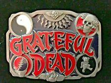 VTG NOS New GRATEFUL DEAD Belt Buckle MADE IN THE USA PEWTER & PORCELAIN ENAMEL