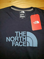 Mens The North Face Navy Blue Short Sleeve T-Shirt Big Logo New NWT Size Small S