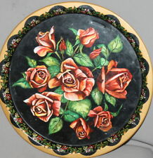 VINTAGE TIN LITHO ROSES SERVING TRAY