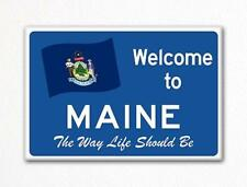 Welcome to Maine Sign Replica Souvenir Fridge Magnet