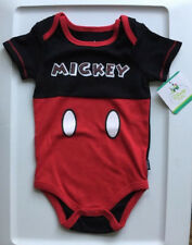 NWT-Disney-Baby-Infant-12-Months-One-Piece-Mickey-Mouse-Short-Sleeve-Creeper