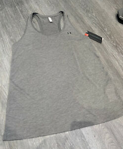 BWNT under armour Vest Top Size L Women's Grey Heat Gear Gym wear Work Out