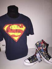 "Brand New- Converse CT Hi DC Comics ""Superman"" SZ 11 w/matching shirt Size L"