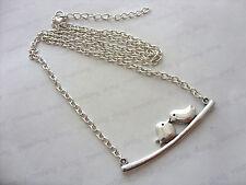 "Love Birds Charm Pendant 20"" Chain Necklace, Friendship Girlfriend Best Friend"