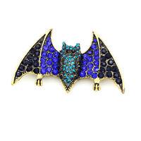 Betsey Johnson Crystal Rhinestone Bat Charm Retro Animal Brooch Pin Xmas Gift