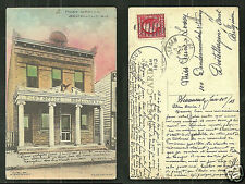 Secaucus Post Office Ohlandt NJ New Jersey stamp 1913