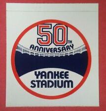 1973 YANKEE STADIUM 50th Anniversary Sticker Decal Vintage Baseball New York old